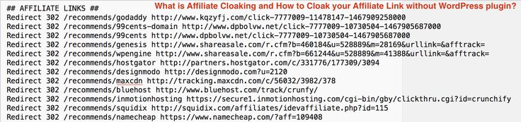 Updated: What is Affiliate Cloaking, How to #Cloak #Affiliate Link without #WordPress plugin + .htaccess redirection https://crunchify.com/what-is-affiliate-cloaking-and-how-to-cloak-your-affiliate-link-without-wordpress-plugin/