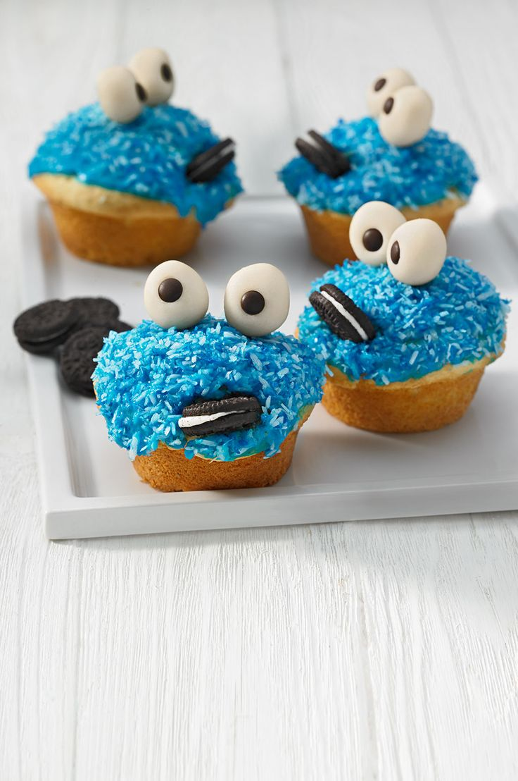 Krümelmonster-Muffins (food art dessert)