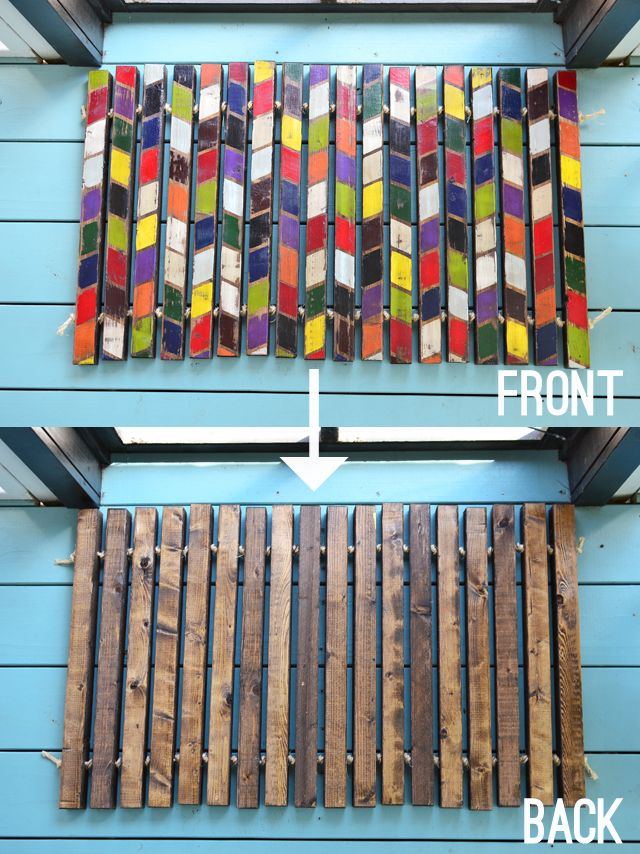 RedBirdBlue: Pinterest Challenge: Reversible Painted Doormat