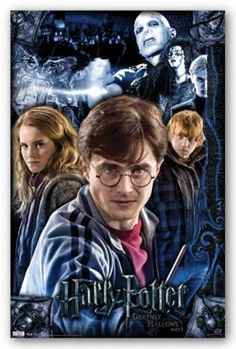 899 Harry Potter And The Deathly Hallows 22x34 Poster Free