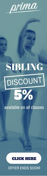 Save your money with the PRIMA DANCE- Sibling discount offers.  Signup Today and Receive 5% Sibling DISCOUNTS.  #DanceClassesforKids #Professionaldanceschools #DanceClasses #balletforkids #balletdanceclasses #Royalacademyofdance #Danceschool — in Worcester Park.