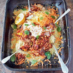 Recept - Tajine met gekruid rundvlees - Allerhande
