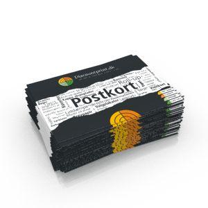 Postkort - offsettryk er billigste valg, hvis du skal have mange af samme motiv, de køres som standart på 300 gr. papir