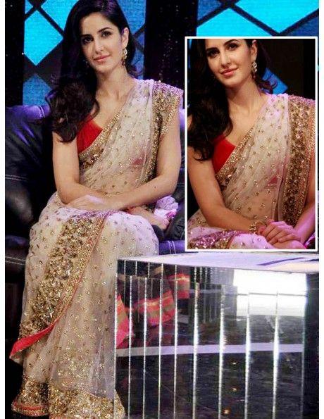 Fab Katrina Kaif Net Saree Item code : SMBW01