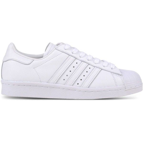 Adidas Originals Low-Tops & Trainers ($115) ❤ liked on Polyvore featuring shoes, sneakers, white, white shoes, flat shoes, leather sneakers, white low tops and white leather shoes
