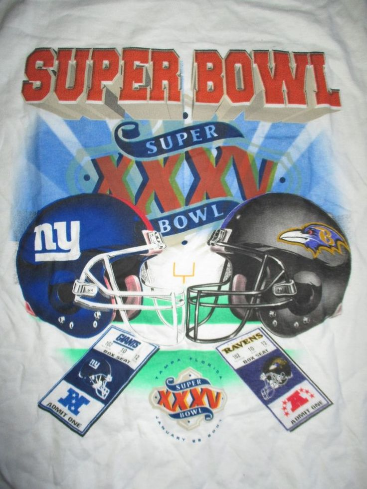 SUPER BOWL XXXV BALTIMORE RAVENS vs NEW YORK GIANTS Tickets (LG) T-Shirt #Dynasty #BaltimoreRavens