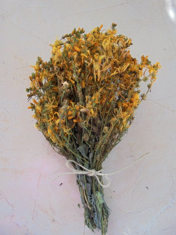 St.John's Wort dried herb from Greece Handcrafted by MelirrousBees