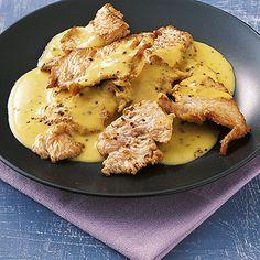 Putenstreifen in Senfsahne Rezept | Küchengötter (Low Carb Kuchen Deutsch)