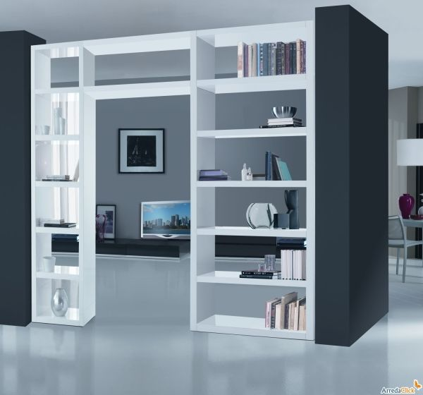 Libreria passante: dividere un ambiente senza muri | ARREDACLICK BLOG