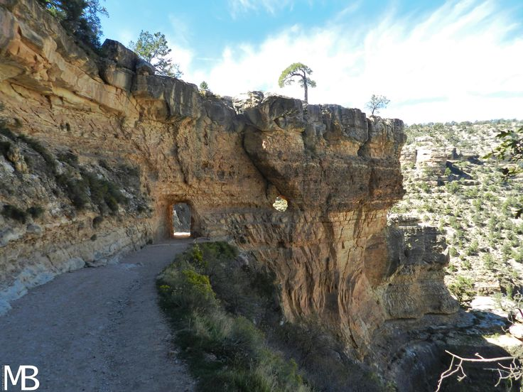 the beginning of the bright angel trail