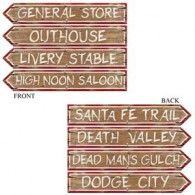 Western Signs Cutouts (4pk) $12.95 BE50068