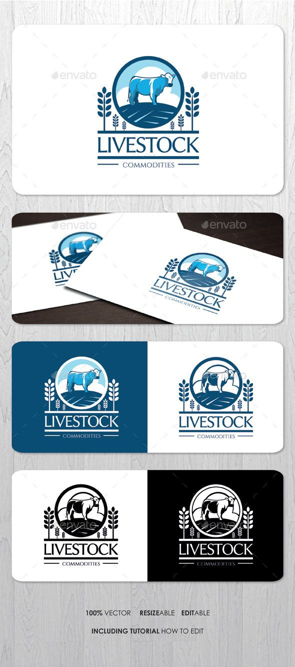 Livestock Farming Business Logo Template #design #logotype Download: http://graphicriver.net/item/livestock-farming-business-logo/8798725?ref=ksioks