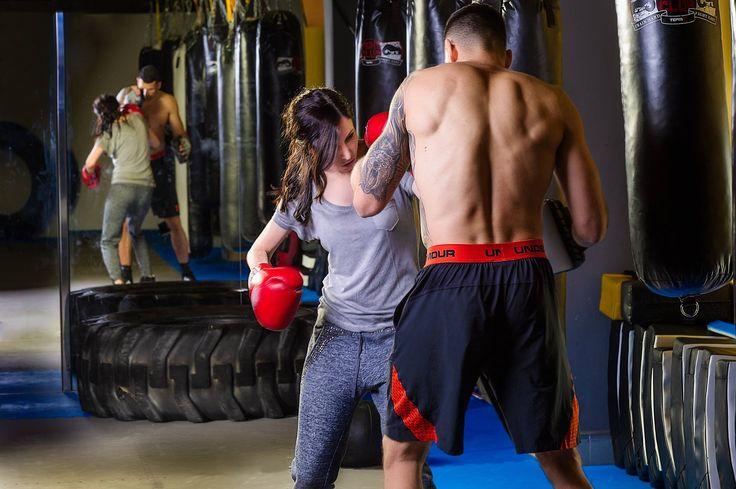 Při tréningu kick boxu