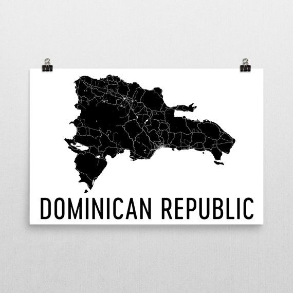 Dominican Replublic Map, Map of Dominican Republic, Dominican Republic Art, Dominican Decor, Gift, Dominican Republic Print, Poster