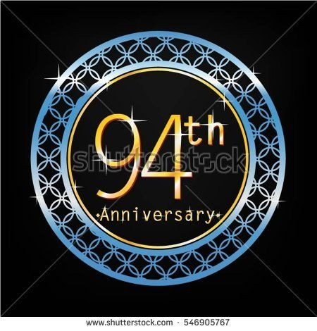 black background and blue circle 94th anniversary for business and various event