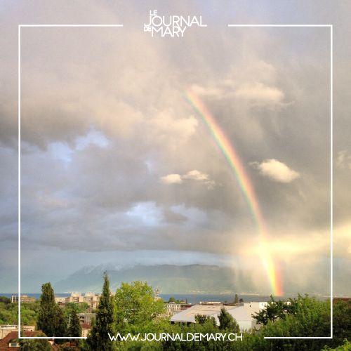 Rainbow, Ecublens, Switzerland Arc-en-ciel