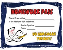 wise owl free homework pass template