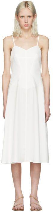 Alexander Wang Ivory Poplin Cami Dress