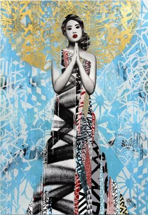 The Wish, Hush. Street Art. Limited Edition. £3200. Add some edge to your living room with this bold, urban piece.