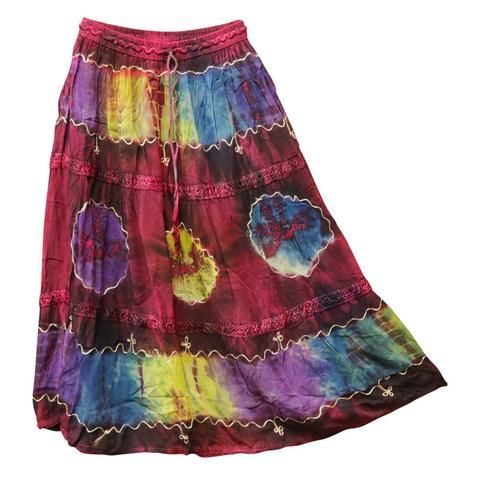 Lace Tie Dye Skirt  - Assorted Colours