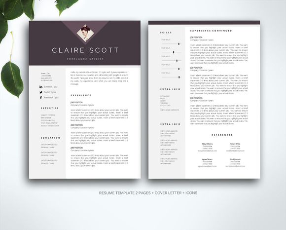 148 best Resume Template Indesign images on Pinterest Resume - resume template indesign