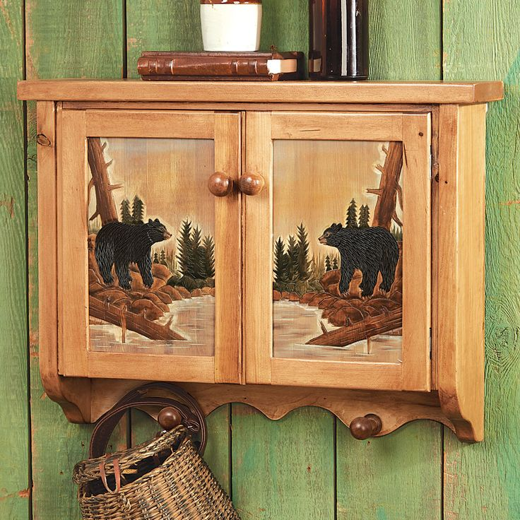 Black Bear Lodge Wall Cabinet