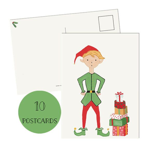 Get 15% off on Etsy using the coupon code PIN99 Christmas Cards Set of 10 Christmas cards Postcards by amylindroos