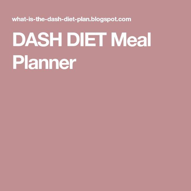 DASH DIET Meal Planner