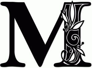 Silhouette Design Store: vine monogram m