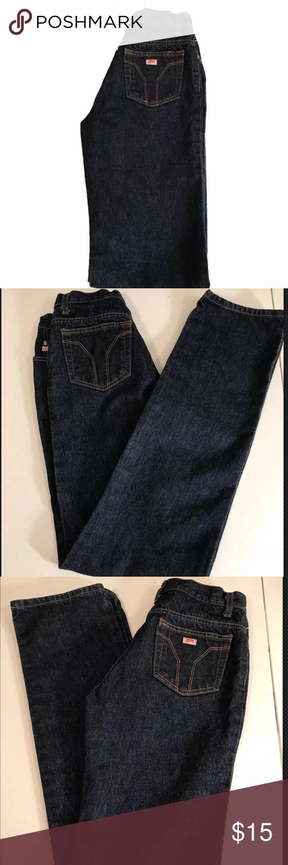 """Miss Sixty Basic Italy Size 27 Dark Wash Jeans Miss Sixty Basic Italy Dark Wash Women's Size 27  Dark Wash Five Pocket  Straight Leg Jeans 32.5"""" Inseam 9.5"""" Rise 7"""" Leg Opening  Pre-Owned Miss Sixty Jeans Straight Leg"""