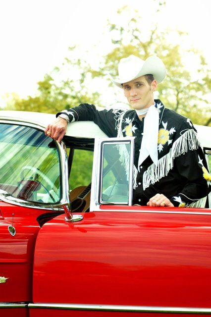 Jake Penrod plays the Street Dance on November 28 Light Spectacular opening night in Johnson City, Texas. Catch a rising star!