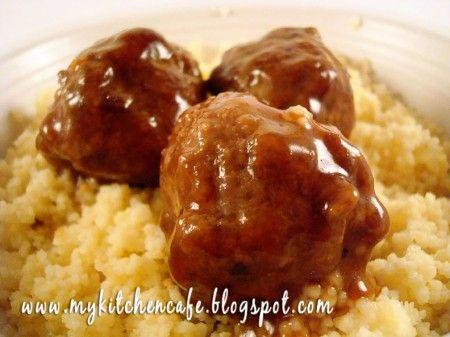 Teriyaki Meatballs - these were really good!  I must make mine smaller, because I had WAY more than 16 meatballs.  I'll make these again for sure.
