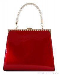 Červená lakovaná kabelka do ruky fasco Berlin 8609-1