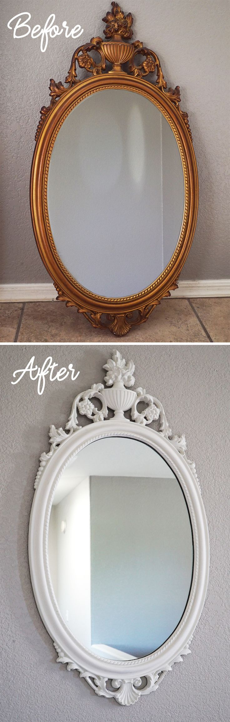 How to Chalk Paint an Antique Mirror | Vintage Mirror | Chalk Painting Techniques | How to Chalk Paint Decor | Chalk Painted Vintage Decor | DIY Chalk Paint Crafts | Weekend Chalk Paint Projects | Goodwill Decor | Chalk Painting Old Decor