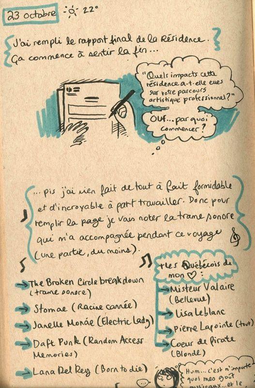 Carnet de Bach à Bordeaux - Jours 52 à 54  Très touchante BD d'une artiste que j'aime bien !