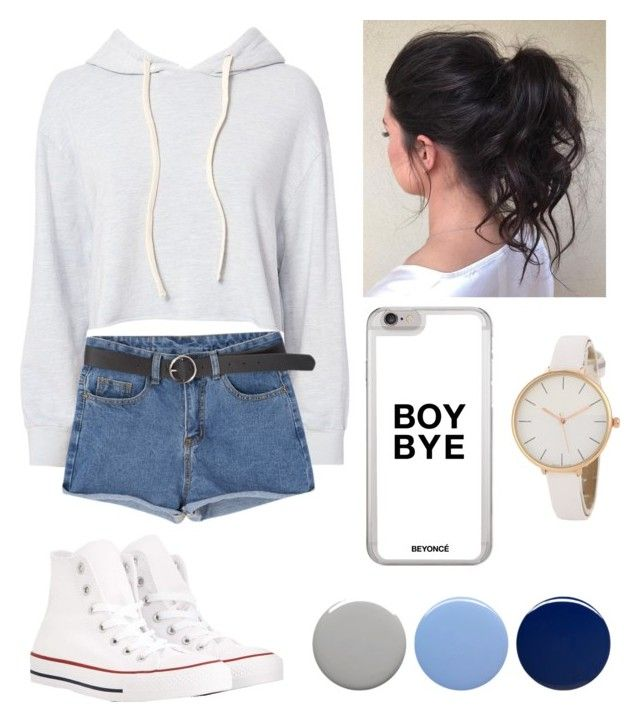 """idk"" by beatrigitaa on Polyvore featuring Monrow, Converse and Burberry"