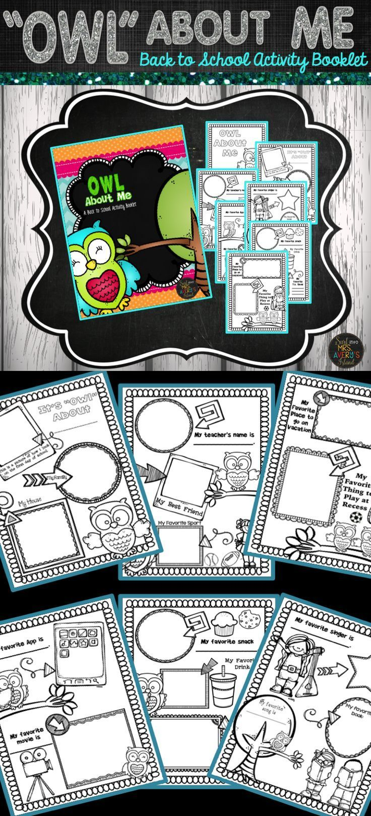 This owl themed All About Me Booklet is a perfect no prep resource to welcome your students back to school!  #teachersfollowteachers #teacherspayteachers #tpt #iteachtoo #iteach #backtoschool #education #learning #homeschooled #homeschooler #homeschooling #owls