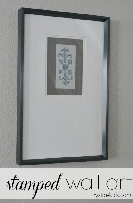 Simple wall art- This was by far the most inexpensive wall art I think I have ever done...because I had most of the supplies on hand. I actually created