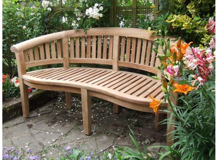 decor curved garden benches contemporary designs