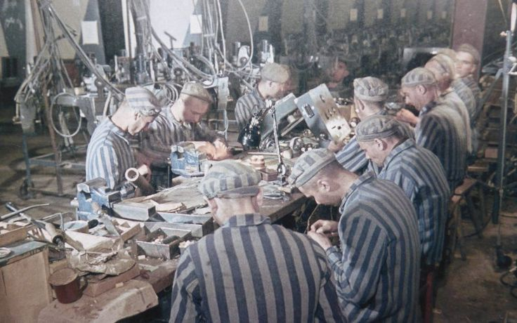 prisoners of the dora mittelbau concentration camp work on the  prisoners of the dora mittelbau concentration camp work on the electronics of the v 2 rocket this was shop no 28 manned by french dutch and bel