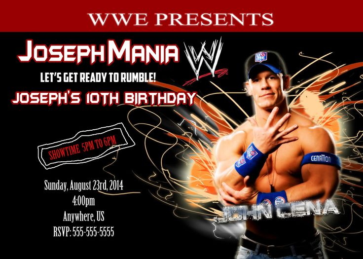 WWE Birthday Invitations for your inspiration to make invitation template look beautiful