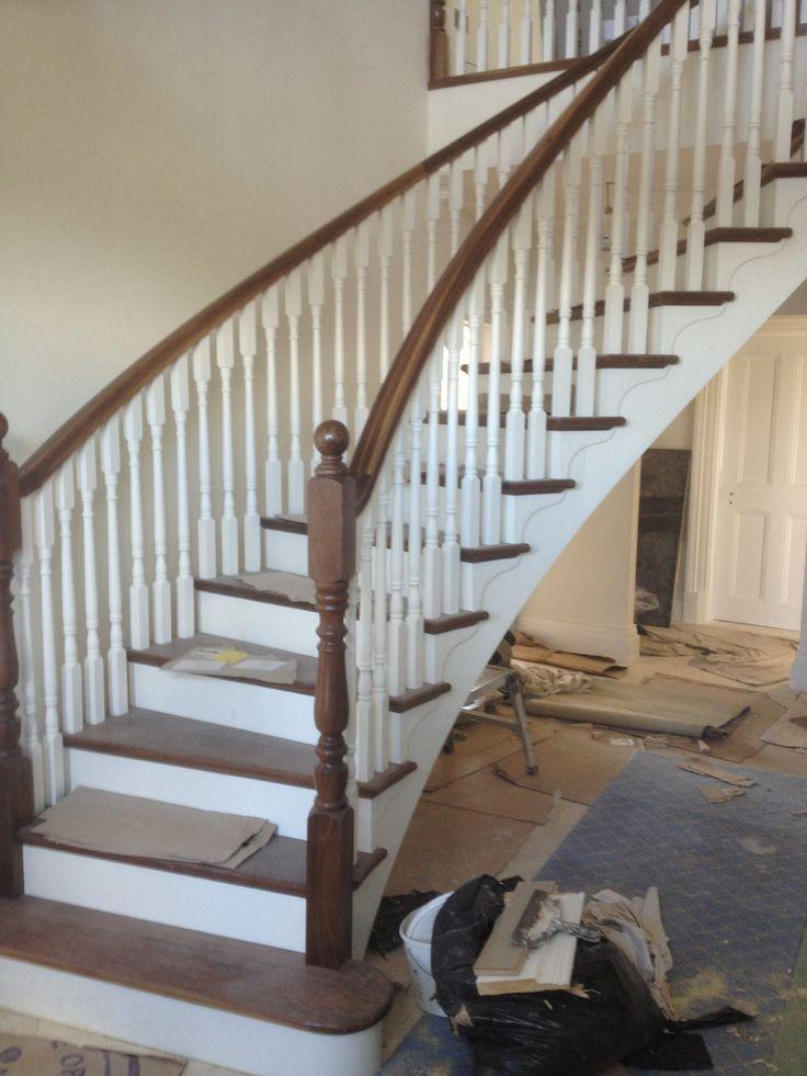 Best Walnut And White Stairs Pinterest 400 x 300