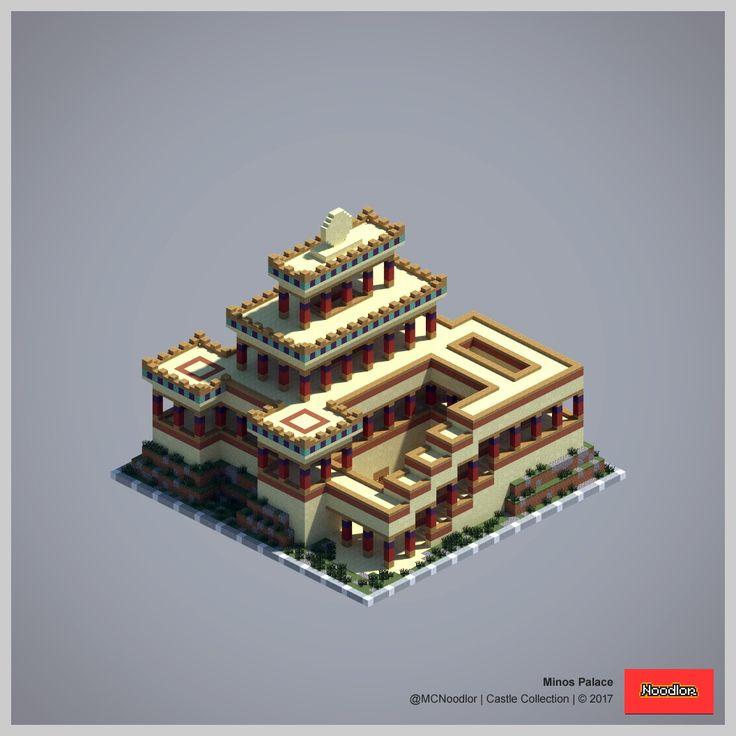 Minos Palace Minecraft CreationsMinecraft IdeasMinecraft ProjectsMinecraft