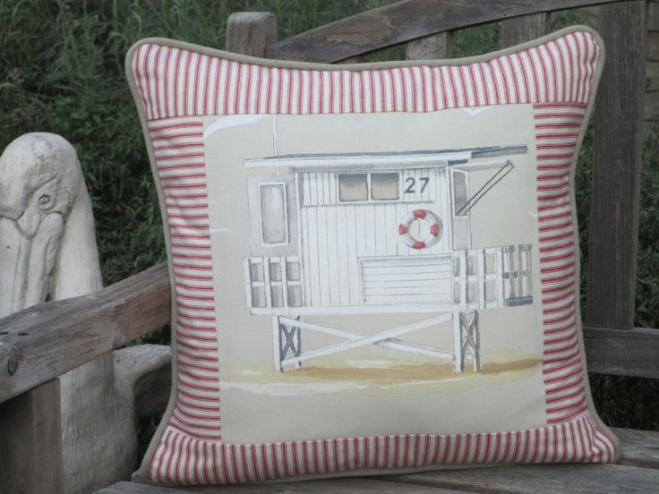 Beach Pillow Cover Paris Fabric Beach House by ComfortsofHomeDecor, $48.00