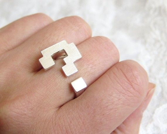 Question-mark ring. Reminds me of Super Mario Brothers!
