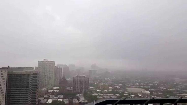 Chicago tornado sirens and a big boom
