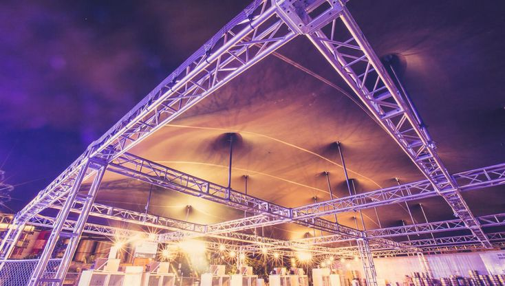 How magestic does this stage cover look!  Get all your event needs at Bedouin Tents today.