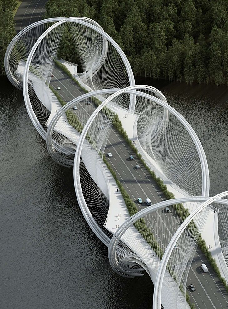 San Shan Bridge - Beijing.                                                                                                                                                                                 More