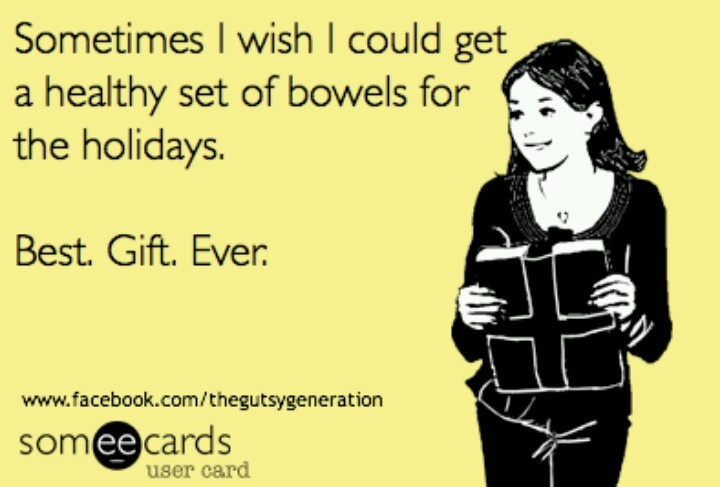 Best gift ever. Bye Bye Fowl Bowel! :) #Crohns