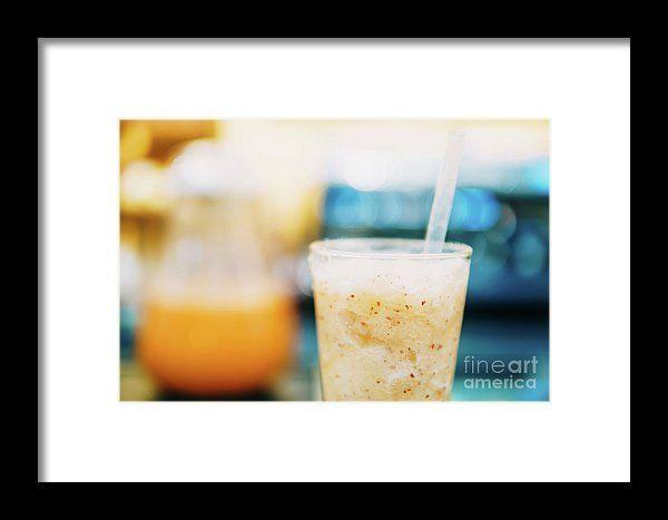 Healthy Orange Fruit Shake Juice Framed Print